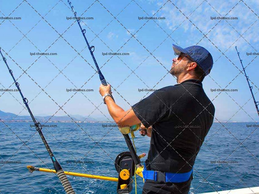 Fisherman in Trolling Boat