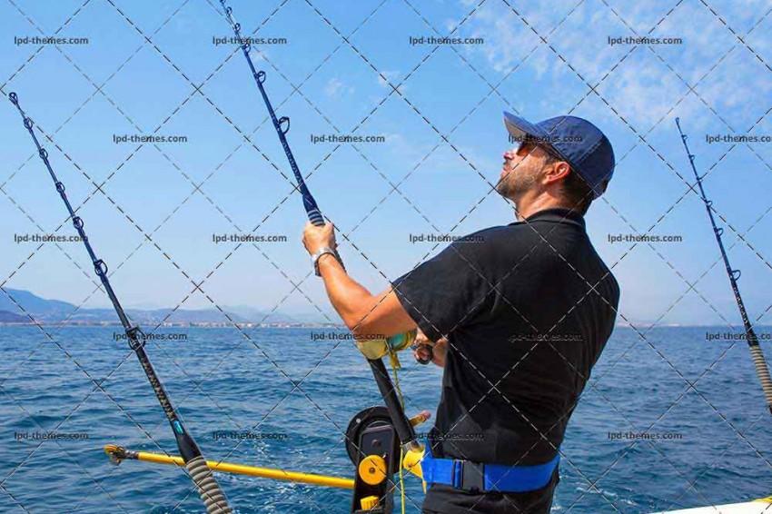 Fisherman in Trolling Boat