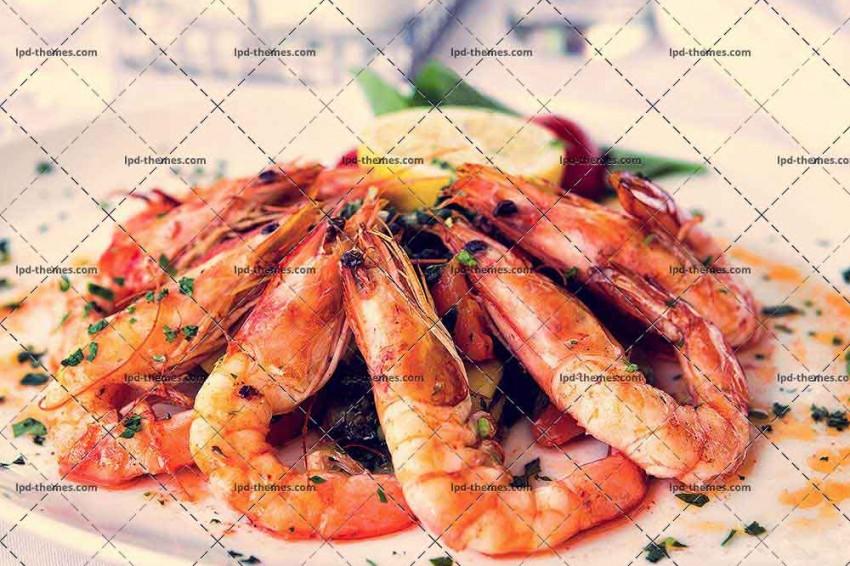 Fried Shrimps On A Plate