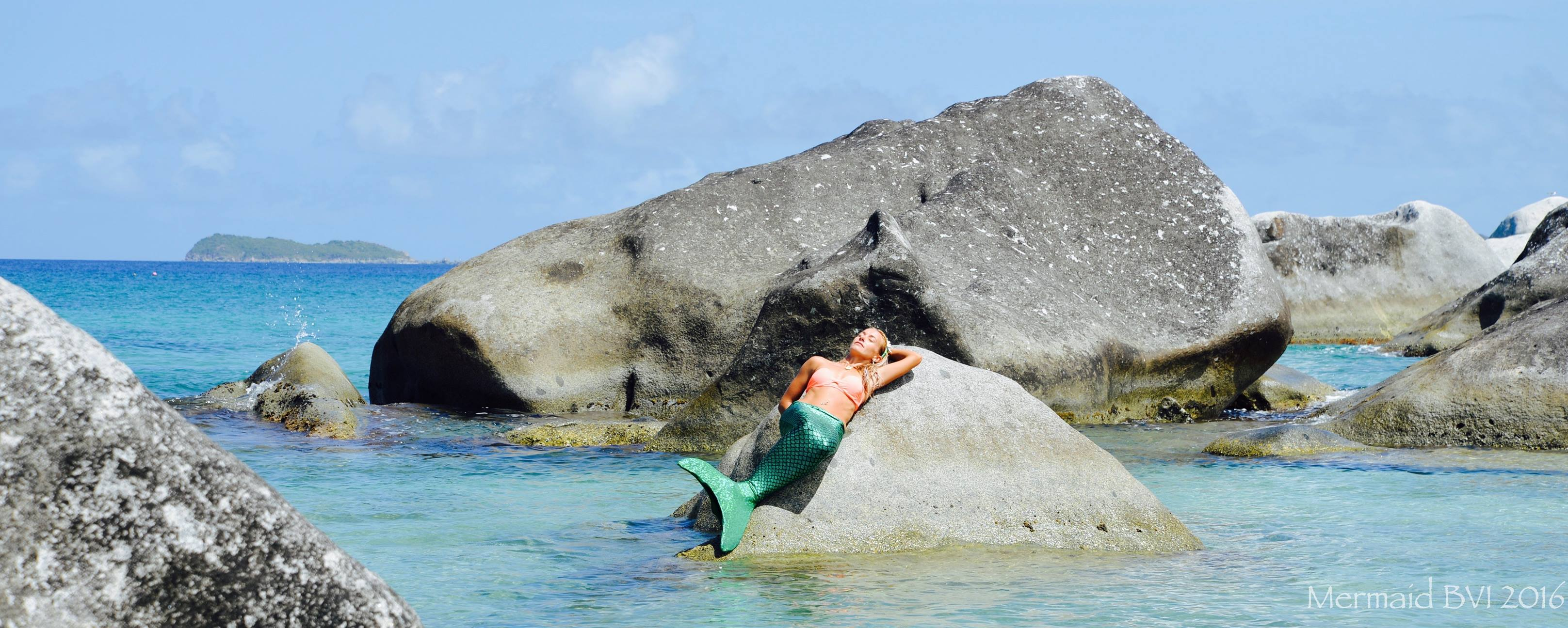 Mermaid warming up in BVI