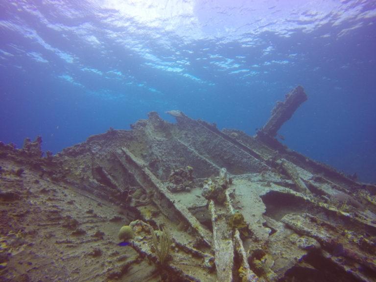 Rhone wreck stern