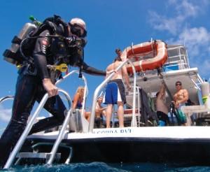 CCR diver on Dive BVI boat