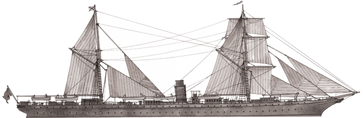 RMS Rhone line drawing